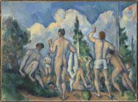 水浴する男たち