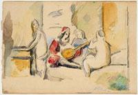 「田園の奏楽」(Tiziano)の模写