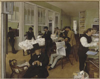 ニューオリンズの事務所の人々(綿花取引所)