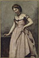 赤い服の若い女