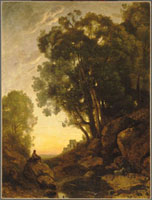 イタリアの山羊飼い,夕暮れの効果