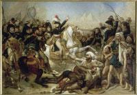 ピラミッドの戦いを前に演説するボナパルト1798年