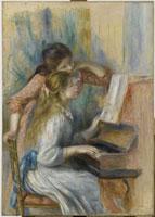 ピアノに寄る少女