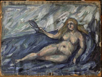 鏡をもつ裸婦像 26004017597| 写真素材・ストックフォト・画像・イラスト素材|アマナイメージズ