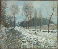 ルーヴェシェンヌの道、雪