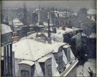 屋根の上の雪、パリ