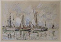 ロリオン港の漁船