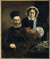 オーギュスト・マネ夫妻の肖像
