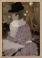 Femme assise dans un bar