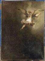 トビアスの家族から去る大天使ラファエル