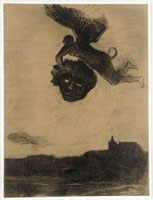 マスクを持った翼のある悪魔