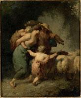 羊の群れの帰路