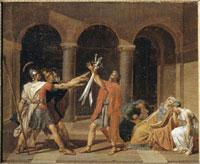 ホラティウス兄弟の誓い(下絵)