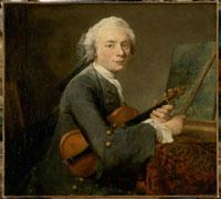 ヴァイオリンを持つ若者