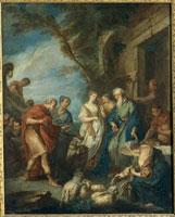 アブラハムの召使を迎えるベテュエル