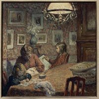 ランプの下の家族