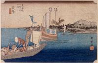 新居 渡舟の図(東海道五十三次) 26004018504| 写真素材・ストックフォト・画像・イラスト素材|アマナイメージズ