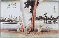 浜松 冬枯れの図(東海道五十三次) 26004018532| 写真素材・ストックフォト・画像・イラスト素材|アマナイメージズ