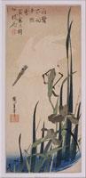 菖蒲に白鷺(大短冊ー花鳥) 26004018536| 写真素材・ストックフォト・画像・イラスト素材|アマナイメージズ