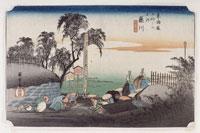 藤川 棒鼻の図(東海道五十三次) 26004018538| 写真素材・ストックフォト・画像・イラスト素材|アマナイメージズ