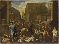 La Peste d'Asdod dit les Philistins frappes de la Peste/ア 26004018690| 写真素材・ストックフォト・画像・イラスト素材|アマナイメージズ