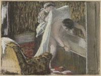 Femme sortant du bain ou Sortie de bain/風呂から出る女性
