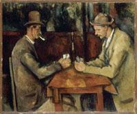 カード遊びをする人たち