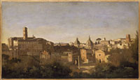 Le Forum vu des jardins Farnese