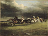 Course de chevaux dit Le Derby de 1821 a Epsom