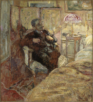 Portrait de Romain Coolusn : Rene Weil,dit Romain Coolus (1868-1952),ecrivain, peint chez les Hessel, rue de Rivoli