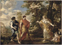 Venus en chasseresse apparait a Enee