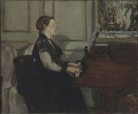 Madame Manet au piano/ピアノの前のマネ夫人