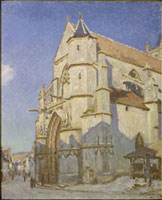 L'Eglise de Moret (Le soir)