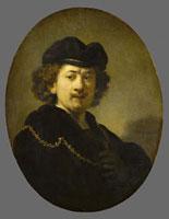 Portrait de l'artiste a la toque et a la chaine d'or/自画 26004018993| 写真素材・ストックフォト・画像・イラスト素材|アマナイメージズ