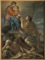 Saint Roch intercedant la Vierge pour la prevision des pes