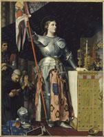 Jeanne d'Arc au sacre du roi Charles VII dans la cathedral