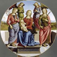 La Vierge et l'Enfant entre Sainte Rose,Sainte Catherine e