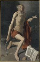 Saint Jerome penitent�Cdit Saint Jerome a l�faureole/������