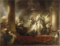 Le Grand pretre Coresus se sacrifie pour sauver Callirhoe/