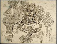 """Etude pour """"Jupiter et Semele"""", d'apres l'Art pour tous"""