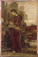 Jeune fille thrace portant la tete d'Orphee