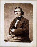 Portrait d�fEugene Delacroix (1798-1863) de 3/4