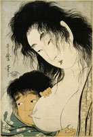 Yamauba et Kintaro , la tetee 26004019391| 写真素材・ストックフォト・画像・イラスト素材|アマナイメージズ
