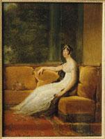 L'imperatrice Josephine en 1802 assise sur un sofa a la Mal