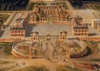 Vue du chateau de Versailles en 1668�i�����j