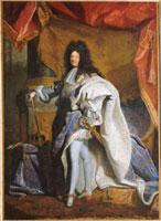 Portrait en pied de Louis XIV age de 63 ans en grand costume