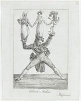Theatre italien ,lithographie, un seul etat