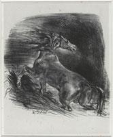 Cheval effraye par l�forage, 1828