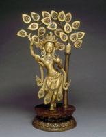 La reine Maya Devi donnant naissance au prince Siddharta, le