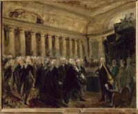 Mirabeau devant Dreux-Breze (23 juin 1789) - Esquisse